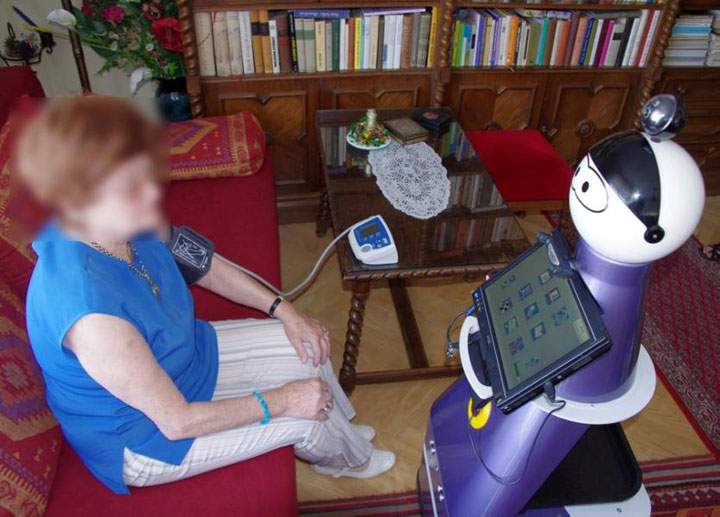 Humanoid robot doctor-helping assistant for older people
