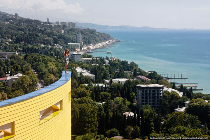 Sochi, Russia,  photo taken from a very high building