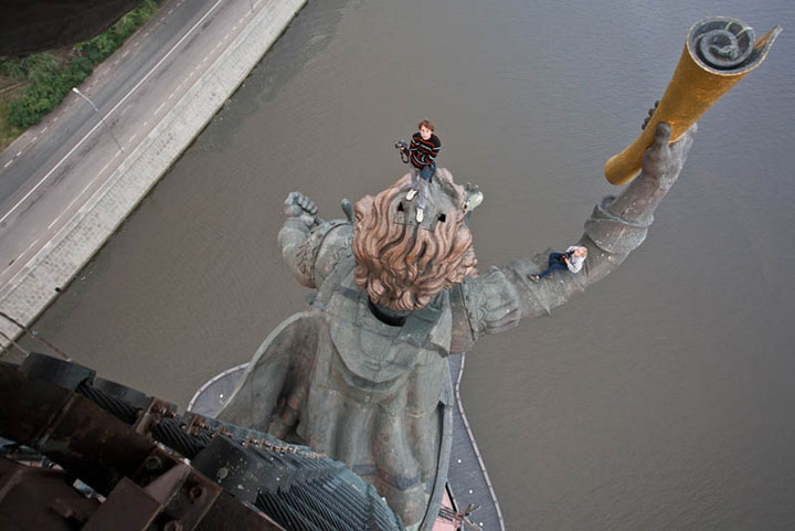 Statue of Peter the Great, Moscow, Russia, amazing photo captured from top of a statue