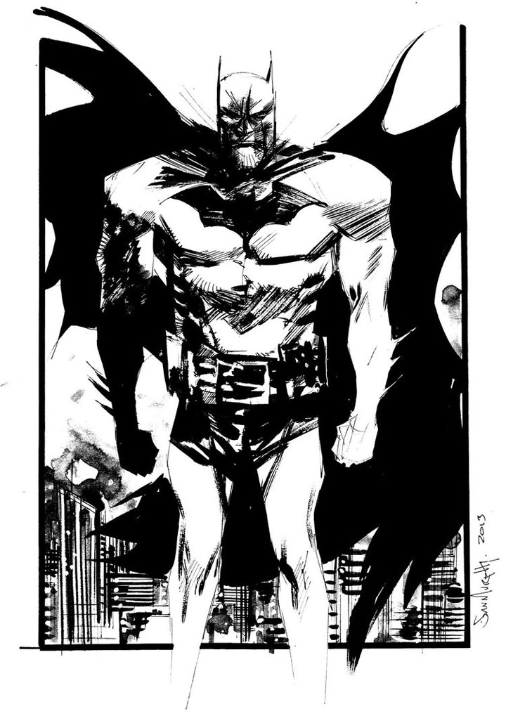 Batman-Superhero Comics Showcased In Beautiful Black And White Portraits