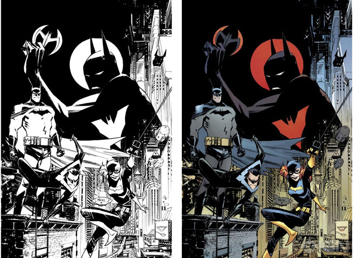 Batman and Batgirl-Superhero Comics Showcased In Beautiful Black And White Portraits