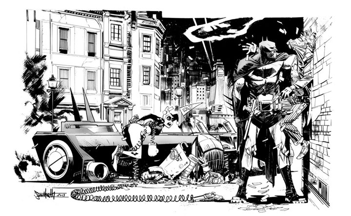 Batman and the Joker-Superhero Comics Showcased In Beautiful Black And White Portraits