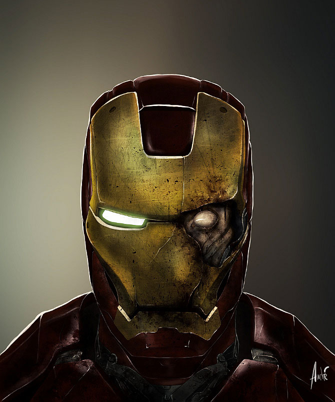 Iron Man-Your Favorite Heroes Turned Into Dangerous Zombies By A Virus Infection