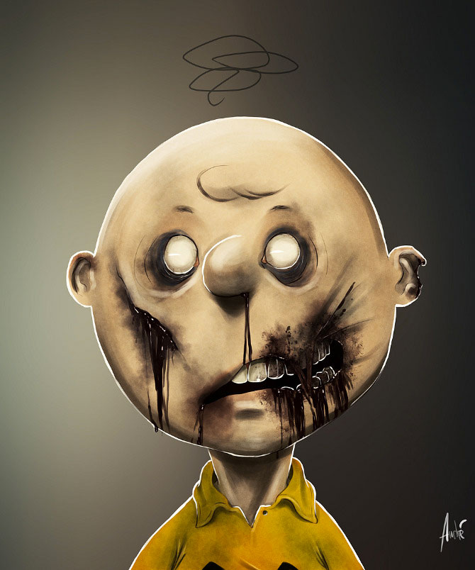 Charlie Brown-Your Favorite Heroes Turned Into Dangerous Zombies By A Virus Infection