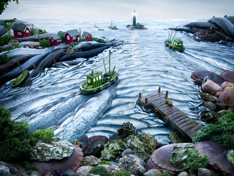 Carl Warner-Surreal Landscapes Created Exclusively With Food