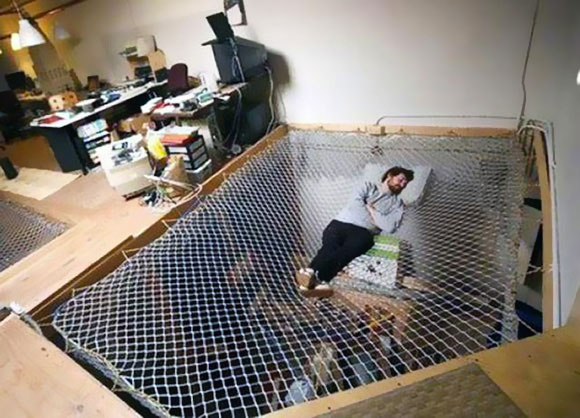 nap in office-Unusual Home Office Ideas