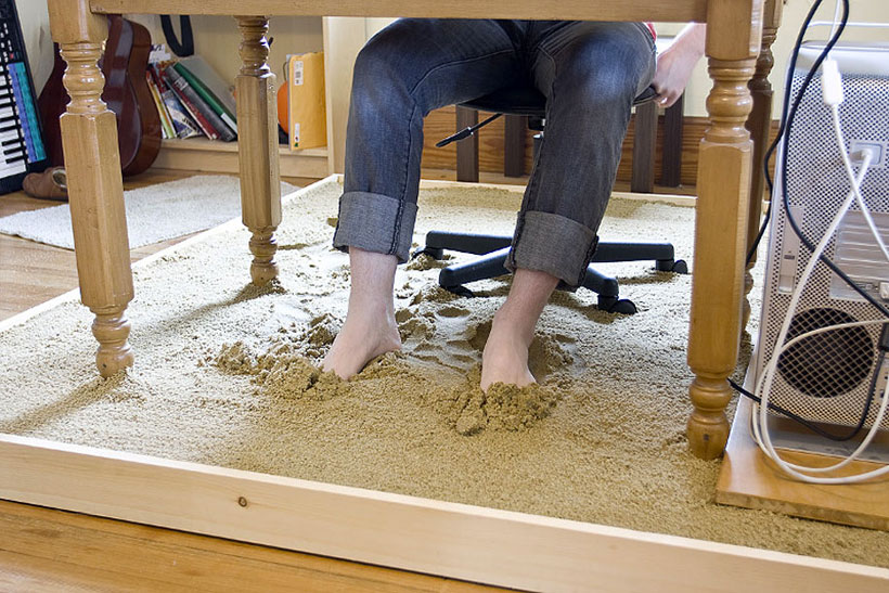 Office in sandbox-Unusual Home Office Ideas