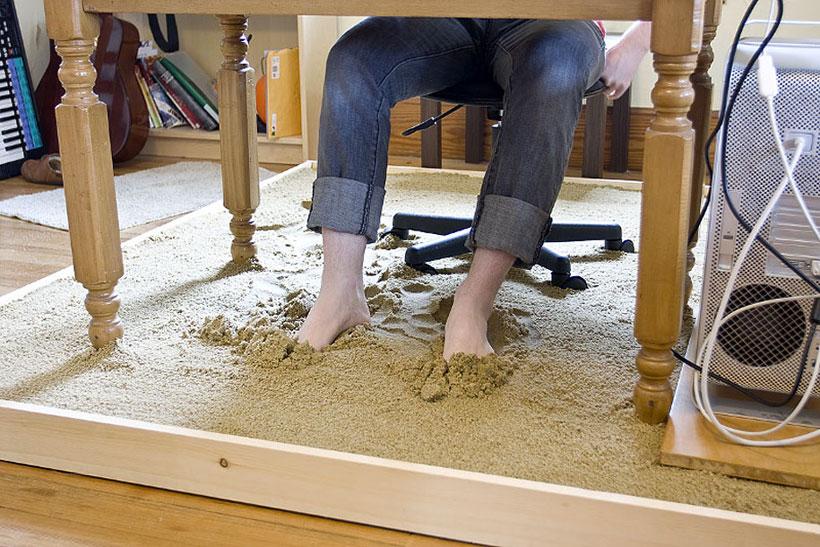 Office in sandbox-Unusual Home Office Ideas