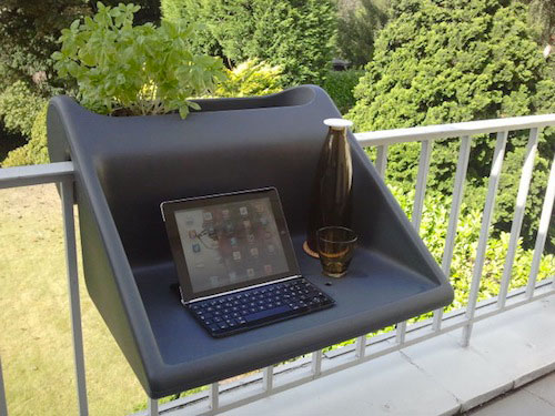 office on the balcony-Unusual Home Office Ideas