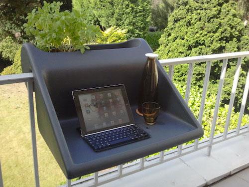 office on the balcony-Unusual Home Office Ideas