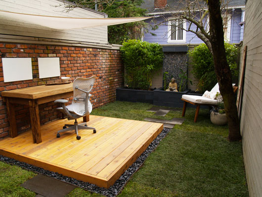 office lounge in the garden-Unusual Home Office Ideas