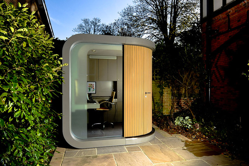 Cabin Office-Unusual Home Office Ideas