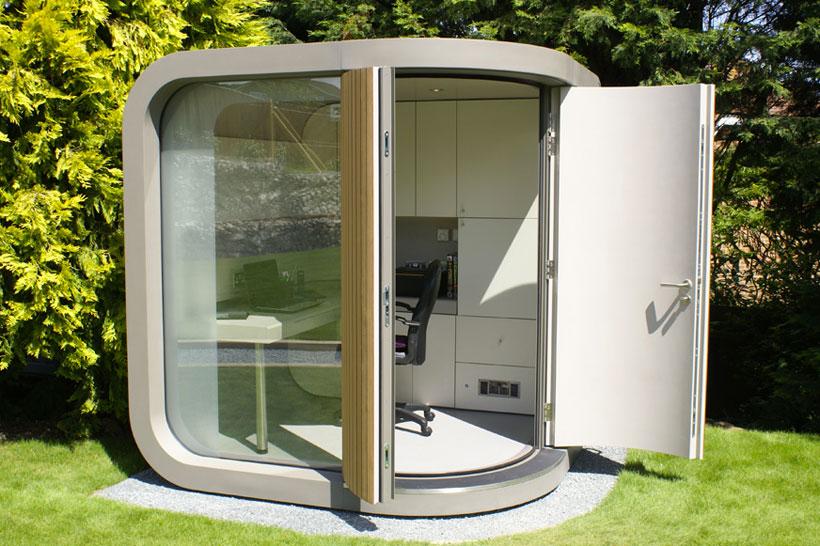 Cabin Office-Unusual Home Office Ideas