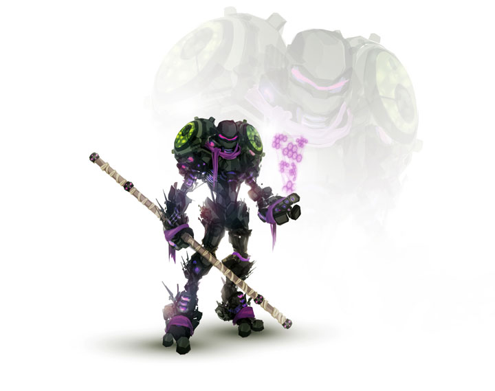 Donatello-Superheroes Has Heavily Armed Robots