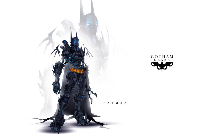 Batman-Superheroes Has Heavily Armed Robots