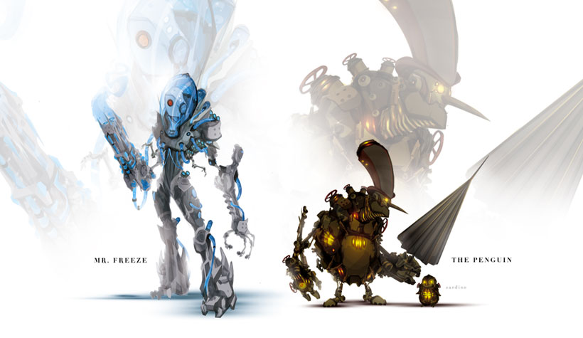 Mr. Freeze and the Penguin-Superheroes Has Heavily Armed Robots
