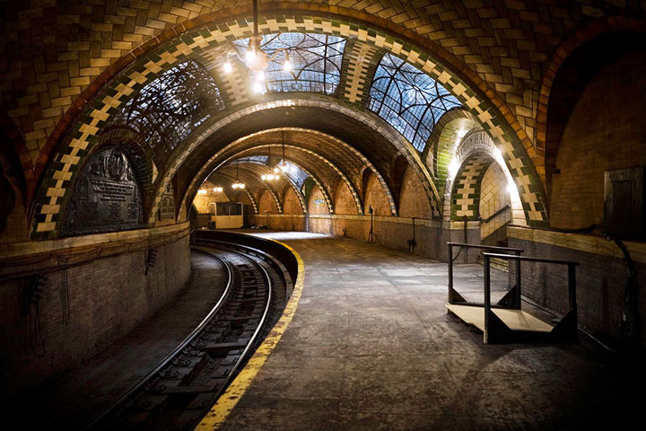 Metro Station Abandoned City Hall, New York - United States