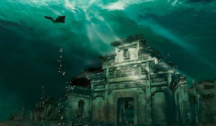 The sunken city of Shicheng - China-Most Fascinating Abandoned Places Of The World