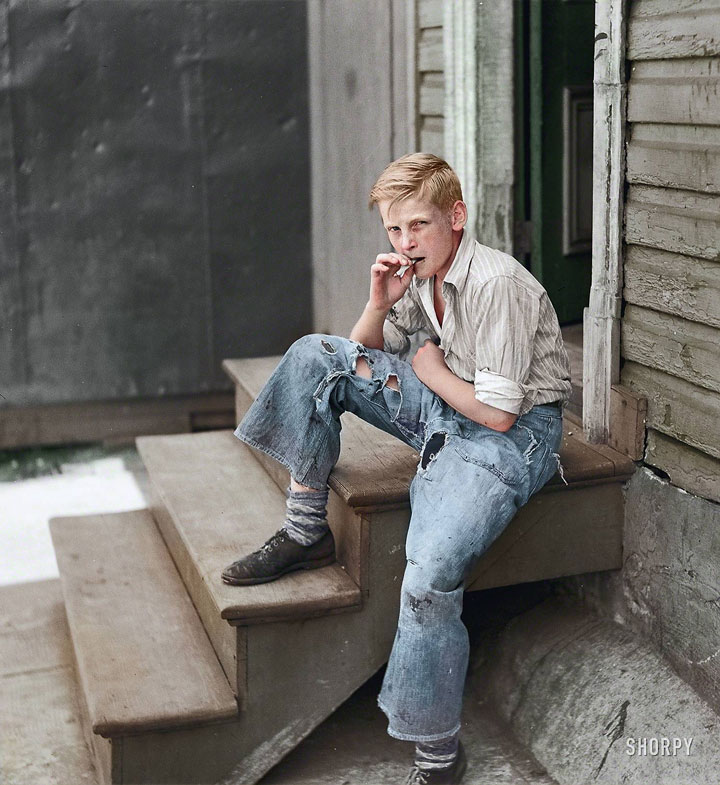 A young boy in the slums of Baltimore, July 1938