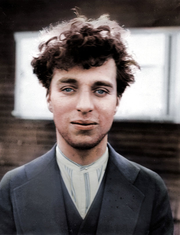 Charlie Chaplin at the age of 27, 1916-colorized version