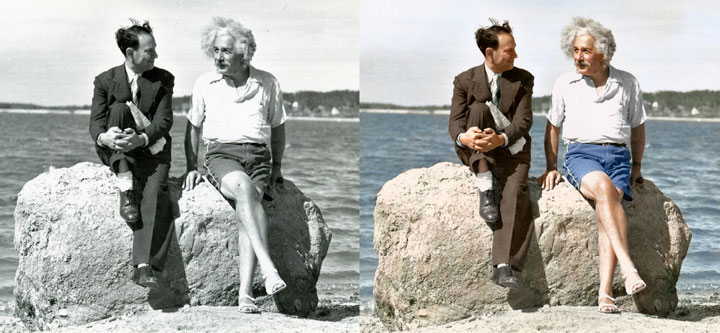 Albert Einstein, Summer 1939, Long Island, New York