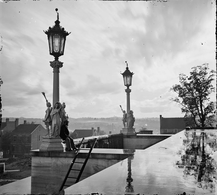 View from the Capitol in Nashville, Tennessee, during the Civil War, 1864
