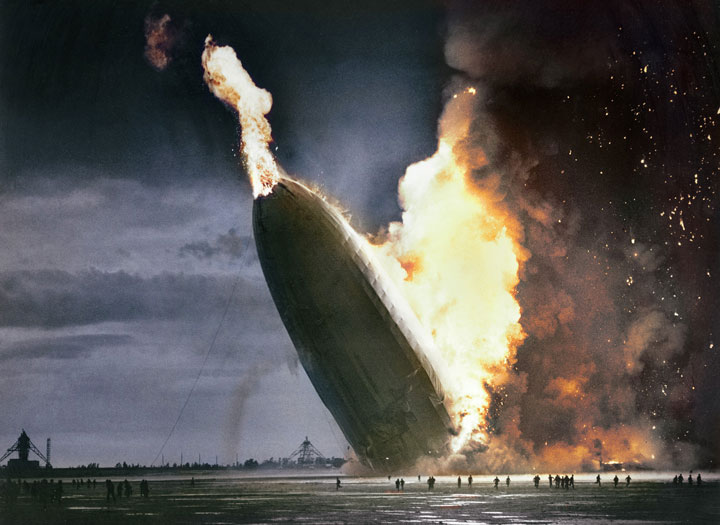 The crash of the Hindenburg, May 6, 1937 (Colored)