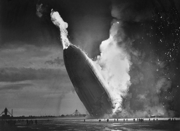 The crash of the Hindenburg, May 6, 1937