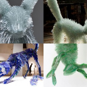 Amazing Animal Sculptures Made From Shards Of Glass (Photo Gallery)