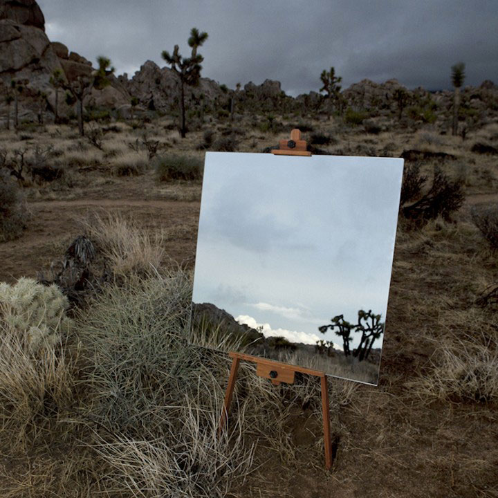 elegant photo shot taken in a desert with the help of mirror