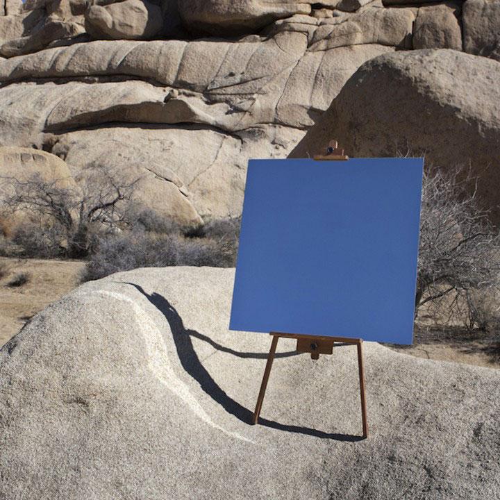 elegant photo shot taken in a desert with the help of mirror