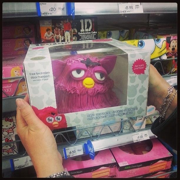 A Furby designed cake