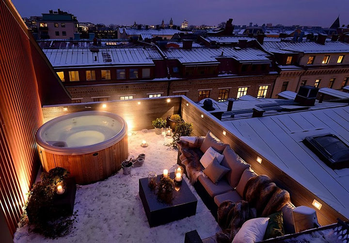 On this roof in Gothenburg, Sweden