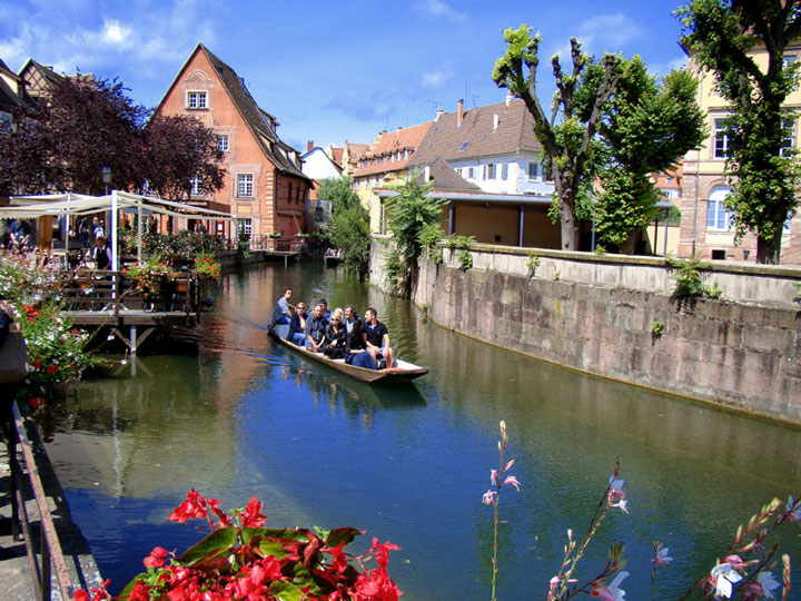 In this small boat in Colmar France