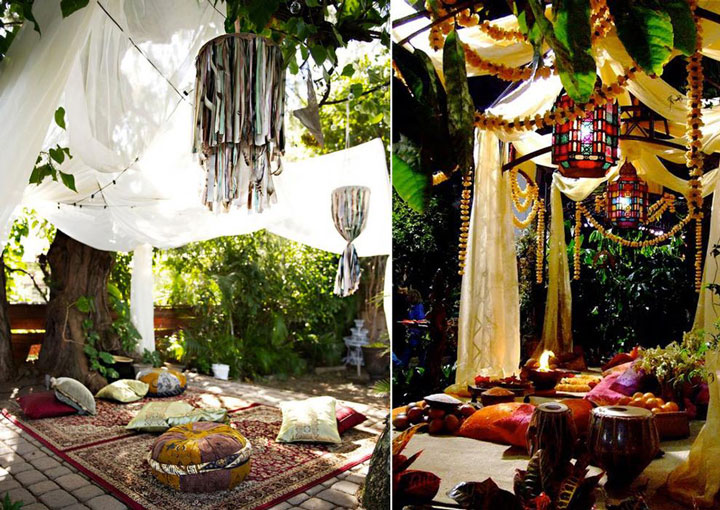 In an ottoman bohemian garden