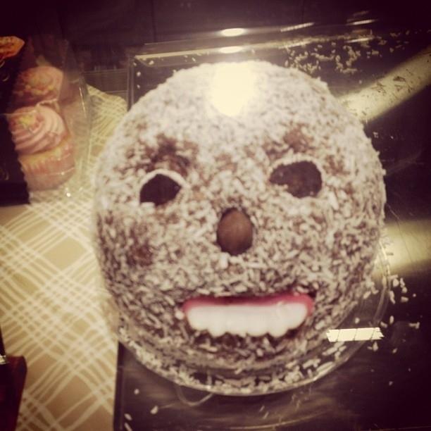 Scary face designed cake