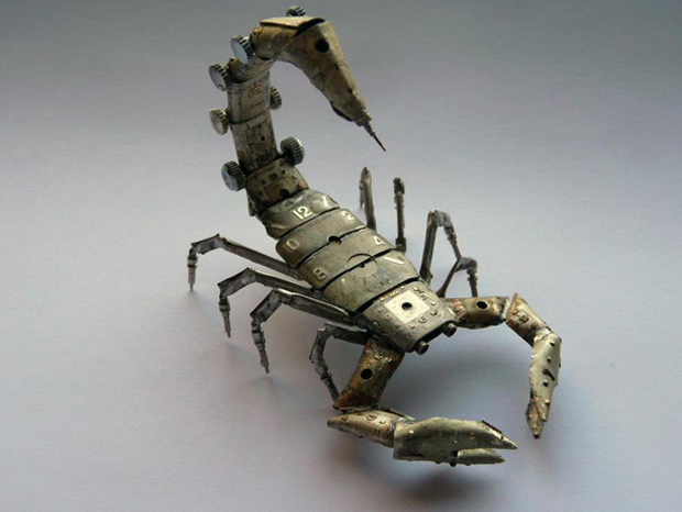 scorpion1-When Your Old Watches Become Mechanical Insects