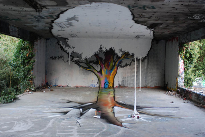 When street artists merge nature with their works photo for Artiste nature