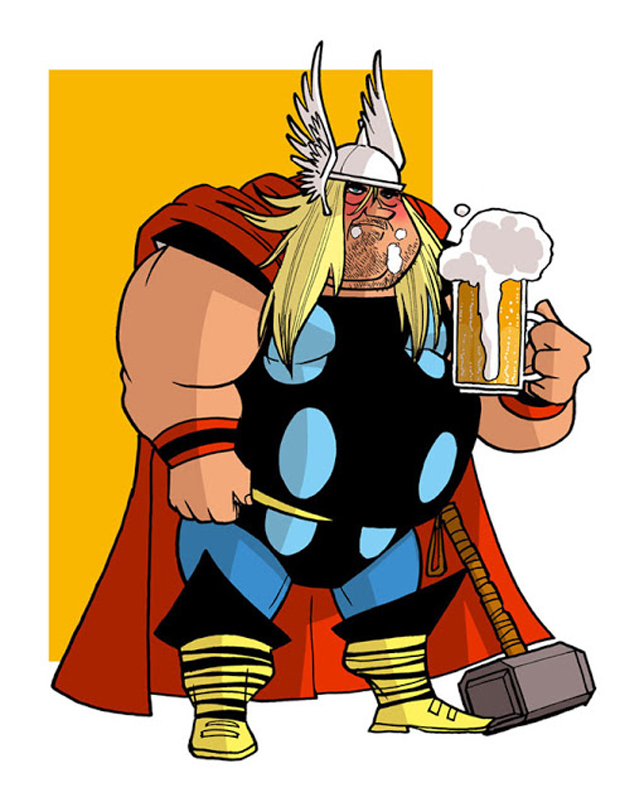 thor-Donald-Soffritti-Super Heroes Looks In Their Old Age