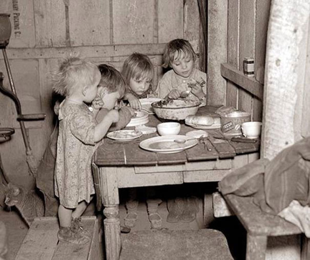27. A Christmas dinner during the Great Depression: cabbage and turnip