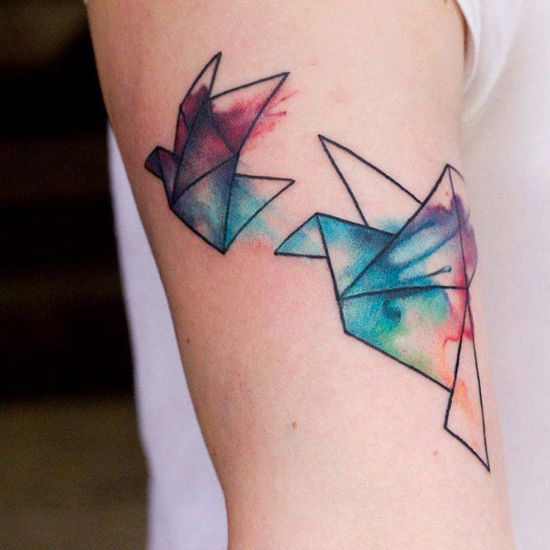 Beautiful Colorful Tattoos That Look As If Painted On The Body