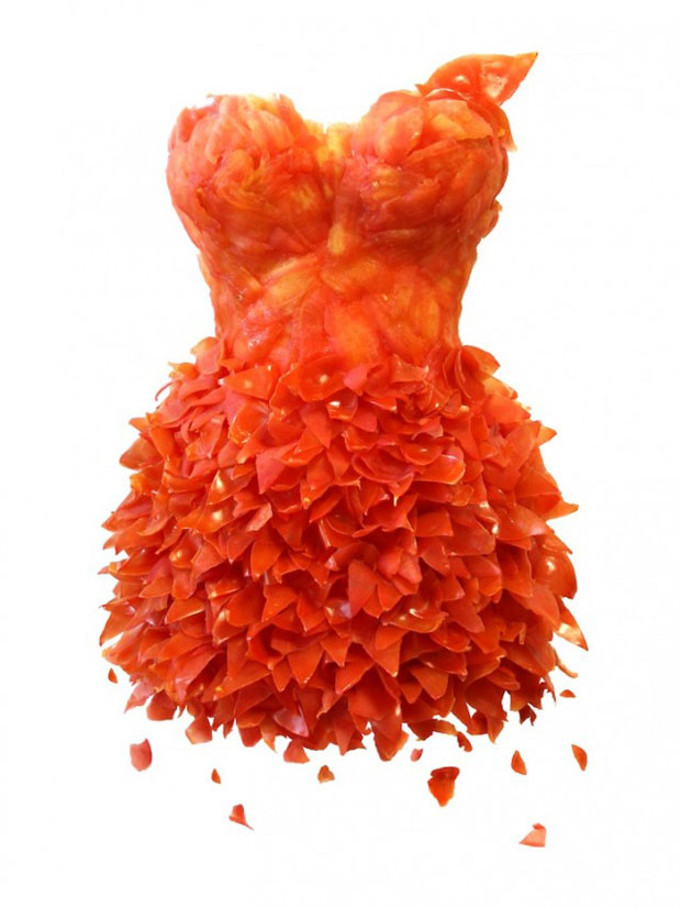 Amazing Bio Dresses Made From Vegetables