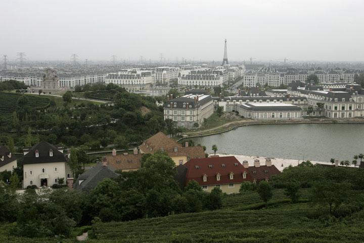 Chinese Replica Of City Of With Its Eiffel Tower