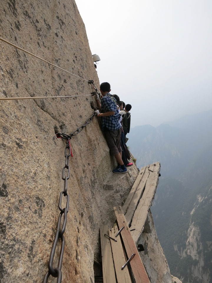 Climb Dangerous Mount Hua Wooden Planks 20
