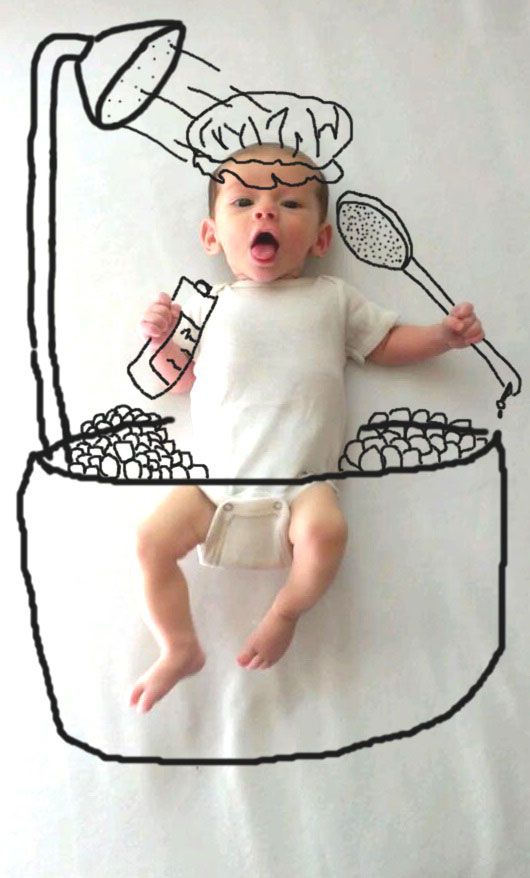 Mom Takes Amazing Photos Of Her Cute Baby Having Imaginary Adventures
