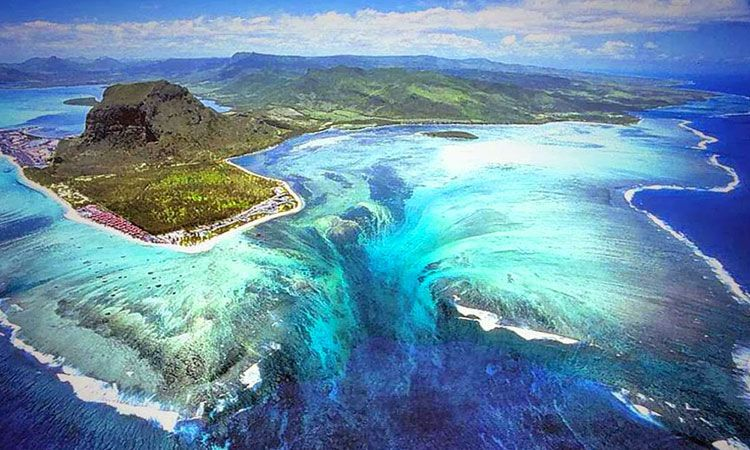 Dazzling Illusion Mauritius Under Ocean Waterfall 4