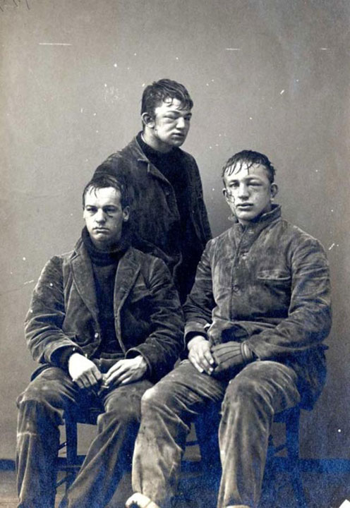33. Students from Princeton University after a snowball fight between newcomers and second-year students in 1893