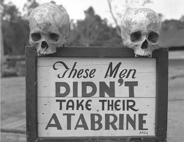 Advertising Atabrine, the anti-malaria drug, in Papua New Guinea during the Second World War