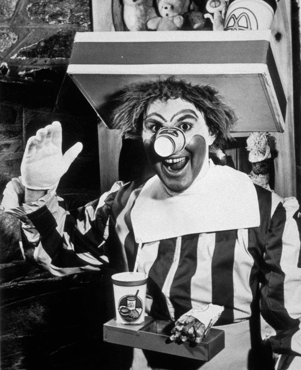 The original Ronald McDonald in 1963