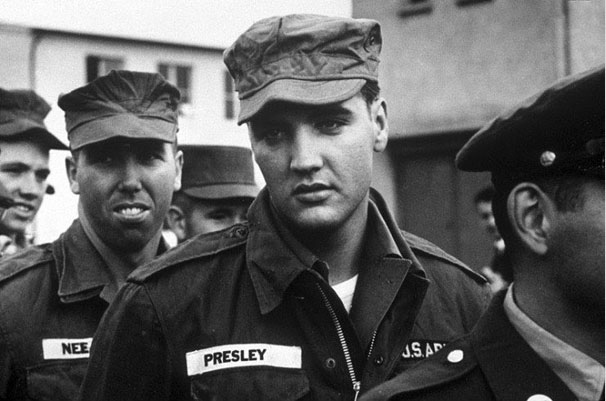 Elvis Presley in the army in 1958